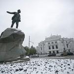 В России продолжает идти снег