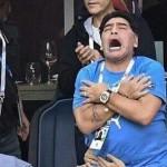 Марадоне потребовалась помощь медиков на матче Аргентины и Нигерии