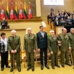 В Литве партизанам, боровшимся против советских оккупантов, вручили Премию свободы