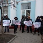 «Чемодан, вокзал, Россия»: Вилкулу в Бердянске сделали рекламу — покрасили зеленкой (видео)