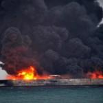 Количество очагов пожара на танкерах в Керченском проливе выросло до шести