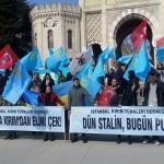 В центре Стамбула прошел митинг за деоккупацию Крыма (фото, видео)